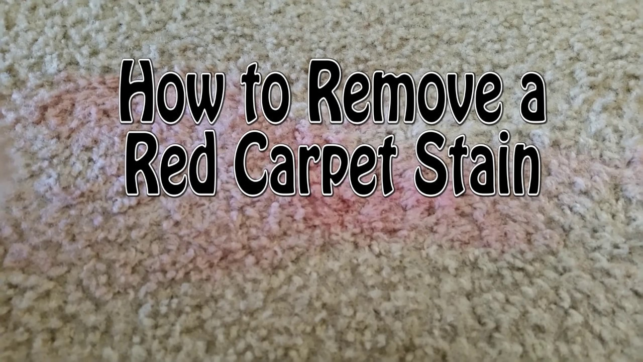 How To Remove A Red Carpet Stain Red Wine Kool Aid