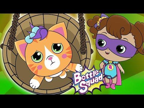 Ding Dong Bell Kids Poem | Bottle Squad Superhero Rhymes | Songs For Kids | Children Video