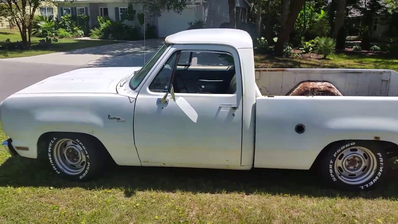 Lowered 78 Dodge d100 short bed - YouTube