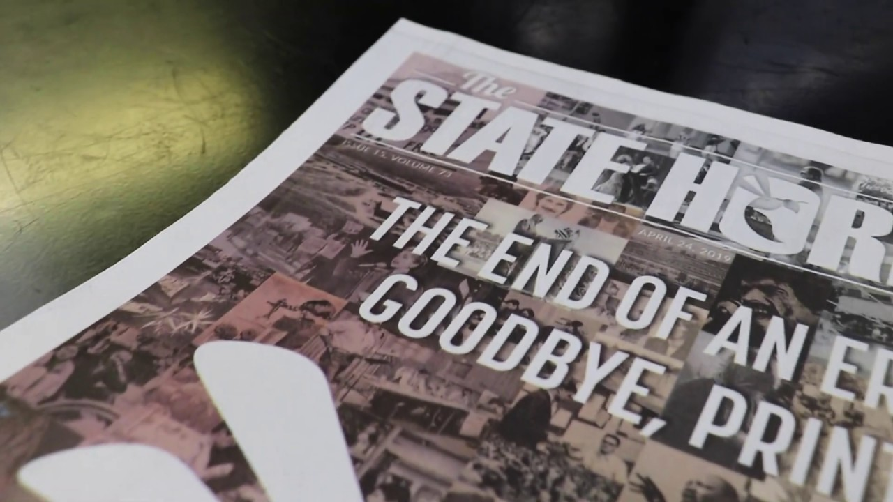 Video: The State Hornet prints its last issue ever – The