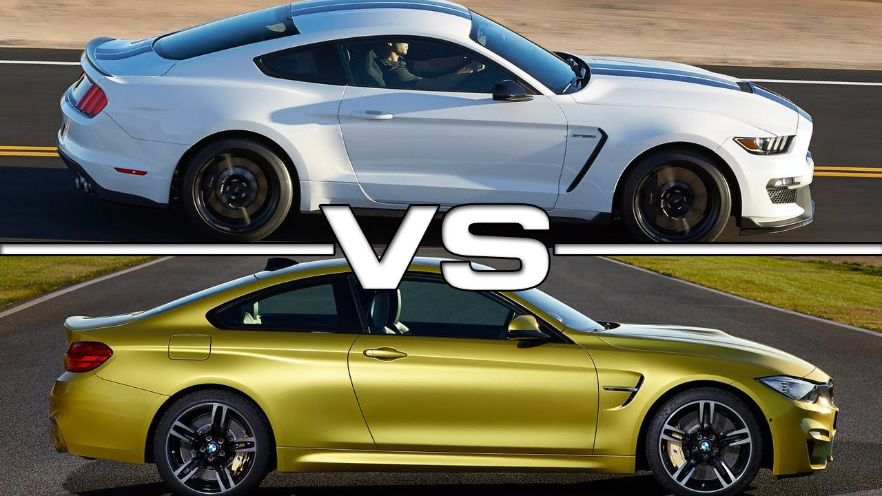 Ford shelby mustang gt350 vs bmw m4