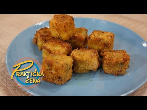 Praktična žena - Pohovane kocke od sira i testenine