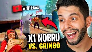 REAGINDO AO GRINGO QUE DESAFIOU O NOBRU NO X1!! WHITE444 FREE FIRE