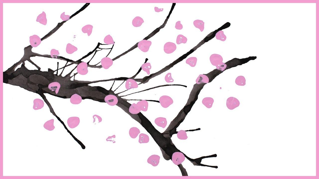 Comment Peindre Un Cerisier Japonais Youtube