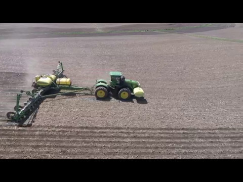 Heishman Ag Iowa spring planting drone video