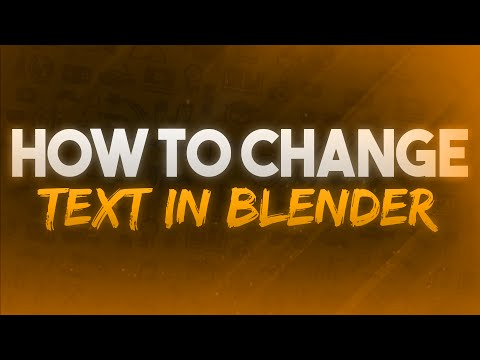 How To Change Text In Blender! NEW INTRO!