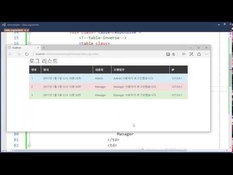 부트스트랩 4(Bootstrap 4)의 테이블 관련 주요 CSS Class 정리