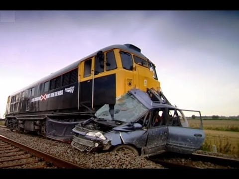 Car hit by train | Safety Message (HQ) | Top Gear | Series 9 | BBC