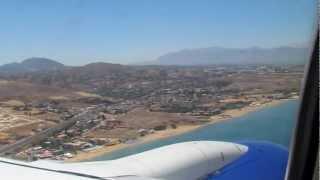 Прилет в Ираклион (Греция, о.Крит) Boeing 737-800 II(13:30 по местному времени приземляемся в аэропорт города Ираклион, что на острове Крит. Красотища и... постоянн..., 2012-06-28T19:16:25.000Z)