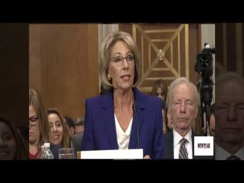 Betsy DeVos's Education Hearing Erupts Into Partisan Debate |