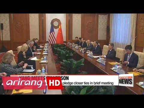 Top U.S., Chinese diplomats pledge closer ties in brief meeting