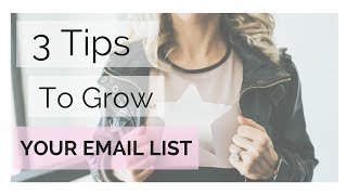 3 Tips to Grow Your Email List || Health Coaches and Fitness Trainers
