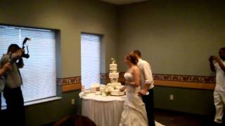 Kerri and Andy's Wedding - Cutting the Cake 1