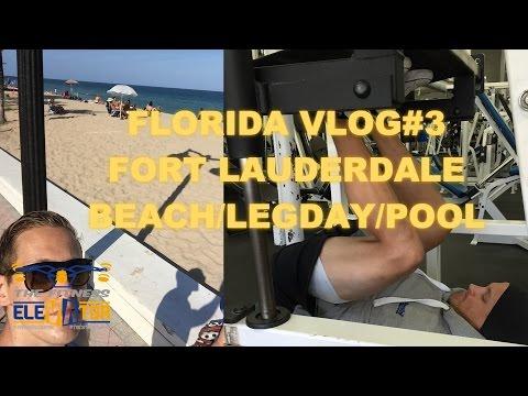 Florida VLOG#3 Fort Lauderdale - Hotel Tranquillo / Strand / Beintraining im Worldsgym / Pool