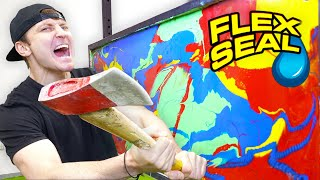 100 LAYERS OF FLEX SEAL (DANGER ALERT) UNBREAKABLE WALL