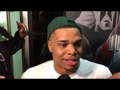 Miles Bridges discusses Michigan State's win over Illinois