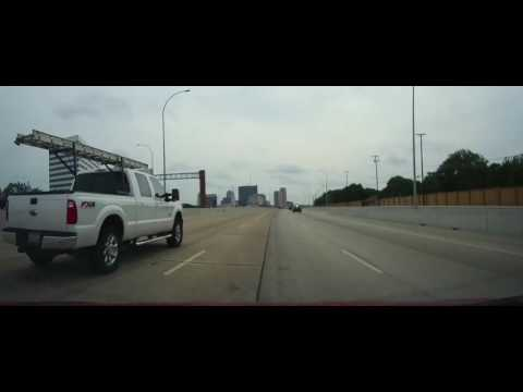 Driving from Dallas to Plano, Texas
