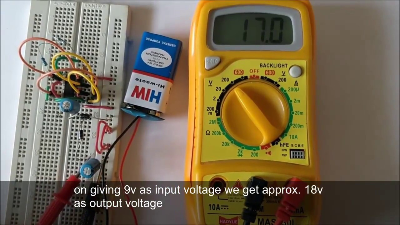 12v to 24v Voltage Doubler Circuit using IC 4049