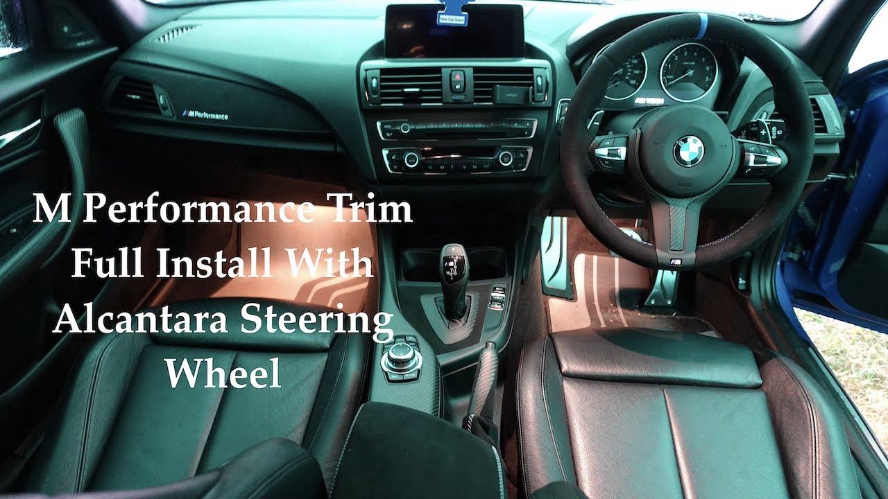 BMW Genuine Full M Performance Interior Trim Install With Alcantara Steering Wheel