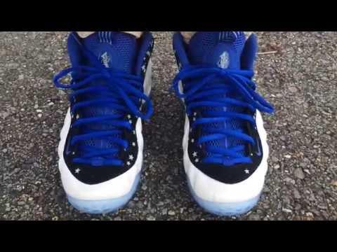 "Nike Foamposite One ""Shooting Stars Pack"" ""Penny PE"" on feet"