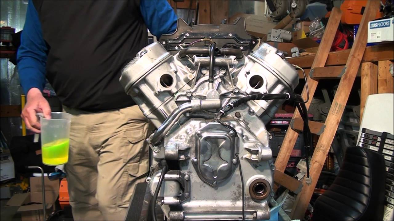 81 Honda Cx500 Engine Install