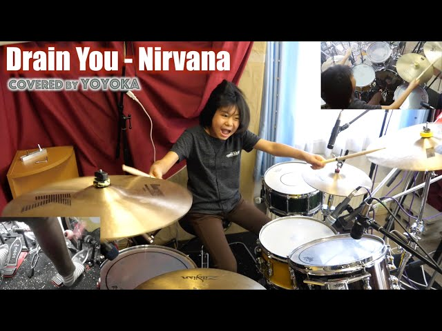Drain You - Nirvana / Covered by Yoyoka, 10 year old