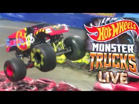 Hot Wheels Monster Truck Live 2019 Real Monster Trucks Demo Derby Big Foot Bone Shaker Tiger Shark Youtube