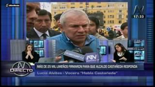 Lima: Castañeda debe responder 108 preguntas a ciudadanos