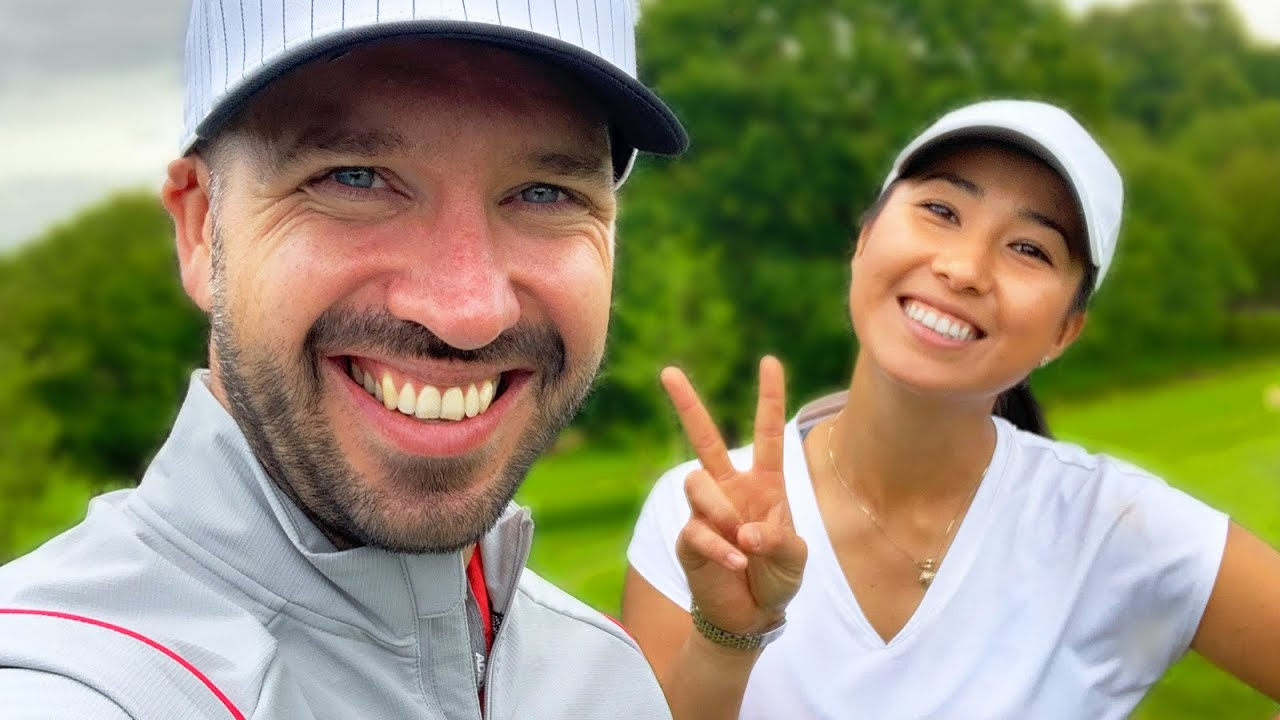 SHE HOLED OUT FOR EAGLE!!! (best golf shots) | #Shorts