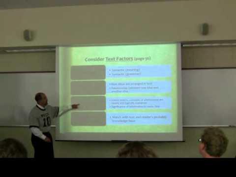 Understanding Content Area Text