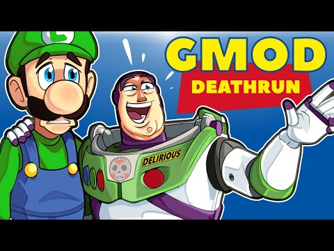 Gmod Ep. 92 - TOY STORY 4 TRYOUTS! - Death Run! (Delirious' Perspective)