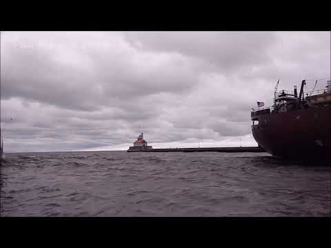 Herbert C Jackson Arriving Duluth With The Wind And Weather
