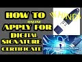 HOW TO APPLY FOR DIGITAL SIGNATURE CERTIFICATE