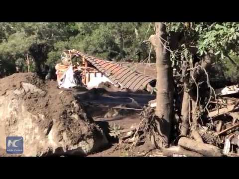 RAW: 8 people still missing after mudslides kill 17 in Southern California