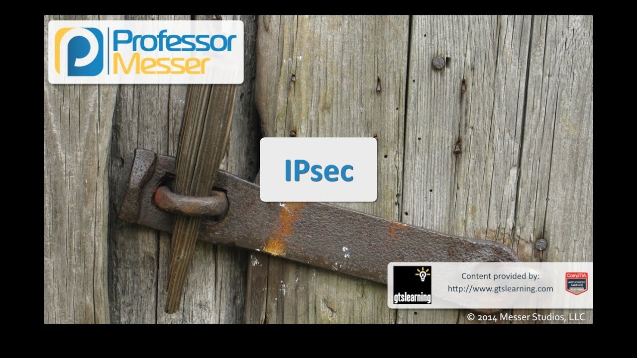 IPsec - CompTIA Security+ SY0-401: 1.4