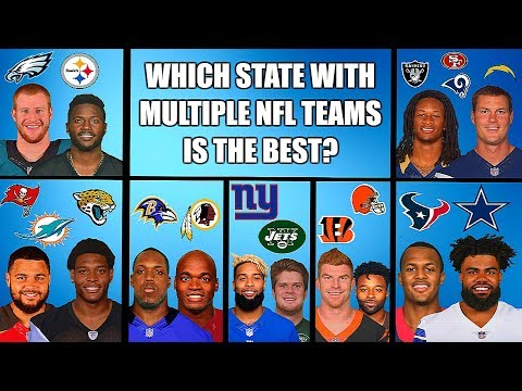 WHICH STATE WITH MULTIPLE NFL TEAMS IS THE BEST? BATTLE OF THE STATES TOURNAMENT Madden 19 Franchise