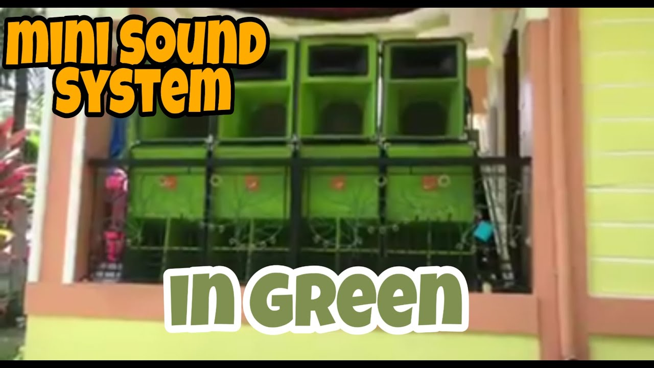 Mini Sound System, Sound Cabinet Box, MOdified Cerwin Vega,