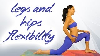 Yoga for Flexibility with Sanela, Hips, Legs & Glutes Stretch, Back Pain, Splits, Beginners at Home