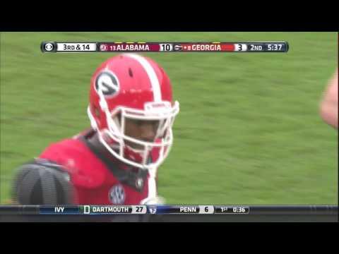 Reggie Ragland Levels Georgia Receiver, Malcolm Mitchell