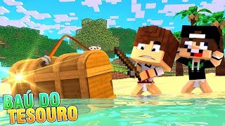 PESCAMOS UM BAÚ DO TESOURO !!! - MINECRAFT