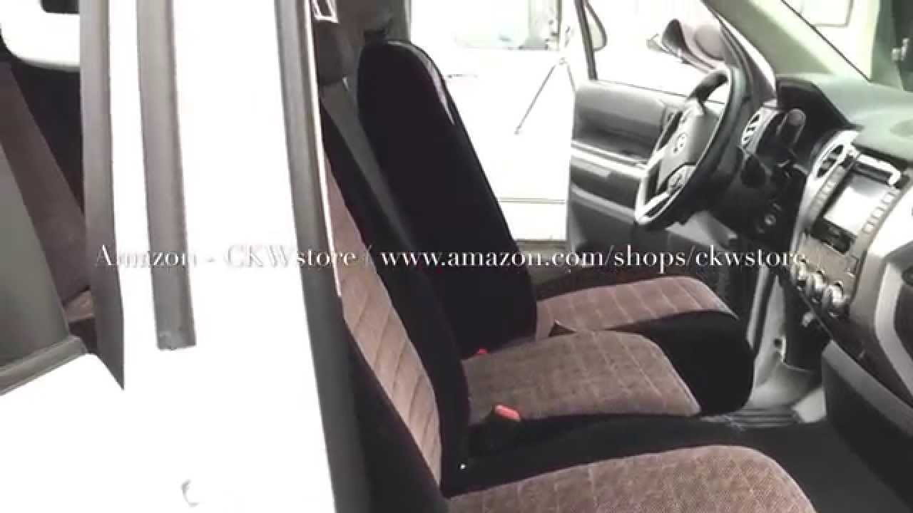 2014 2015 toyota tundra custom made seat covers youtube. Black Bedroom Furniture Sets. Home Design Ideas