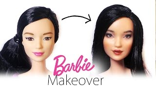 Barbie Makeover: Doll Repaint #2 - Barbie Made To Move