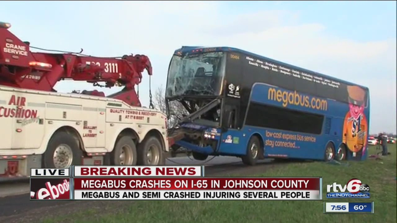 19 injured in Megabus crash in Johnson Co