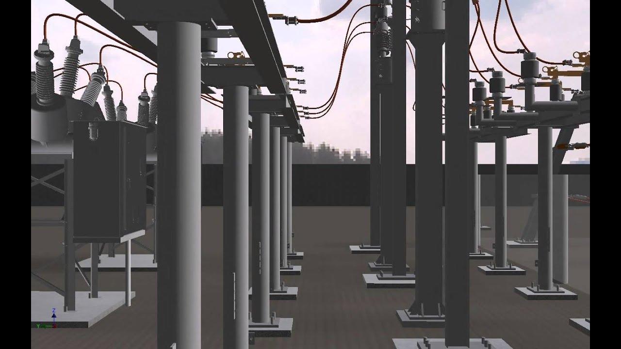 Autodesk substation design workflow 3d model walkthrough for Substation design
