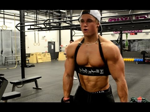 Chest & Arms Workout W/ 17 Year Old Fabian GL