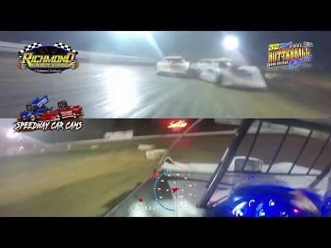 Winner #28 Tyler Carpenter - Super Late Model - 8-17-19 Richmond Raceway - In-Car Camera