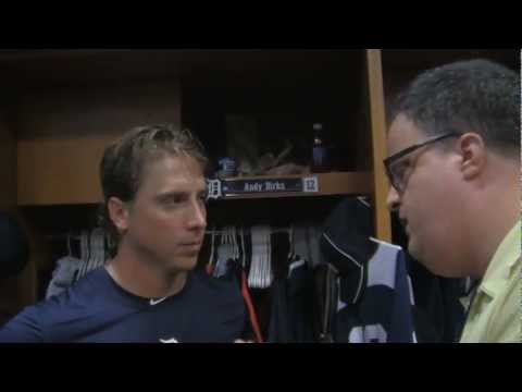 Andy Dirks Tigers LF on the 10 Game Road Trip Angels...White Sox...Indians... 9..05...2012
