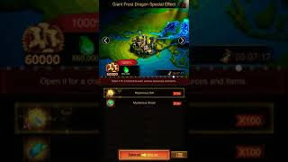 Clash of kings K408 (Getting the Giant frost dragon effect)👻🐉🐲