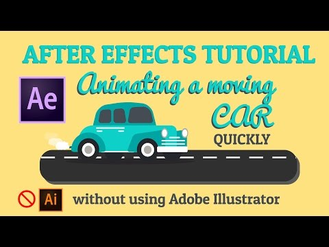 Moving car - Animation - After effects Tutorial