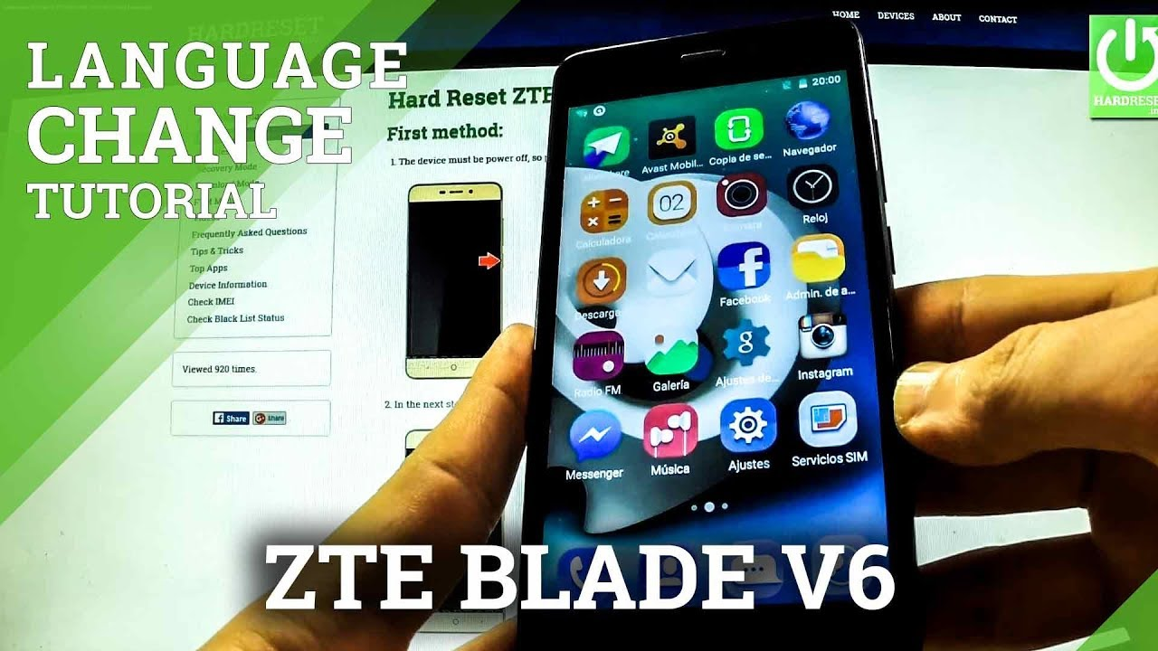 Languages Settings in ZTE Blade V6 - How to Change Language